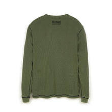 Afbeelding in Gallery-weergave laden, Billionaire Boys Club | Overdyed L/S Waffle T-Shirt Olive