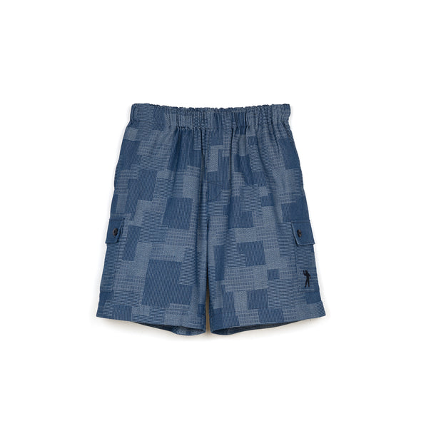 Billionaire Boys Club | Patchwork Denim Short Blue
