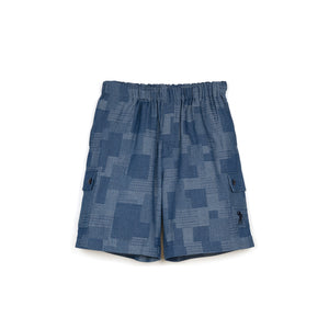Billionaire Boys Club | Patchwork Denim Short Blue - Concrete