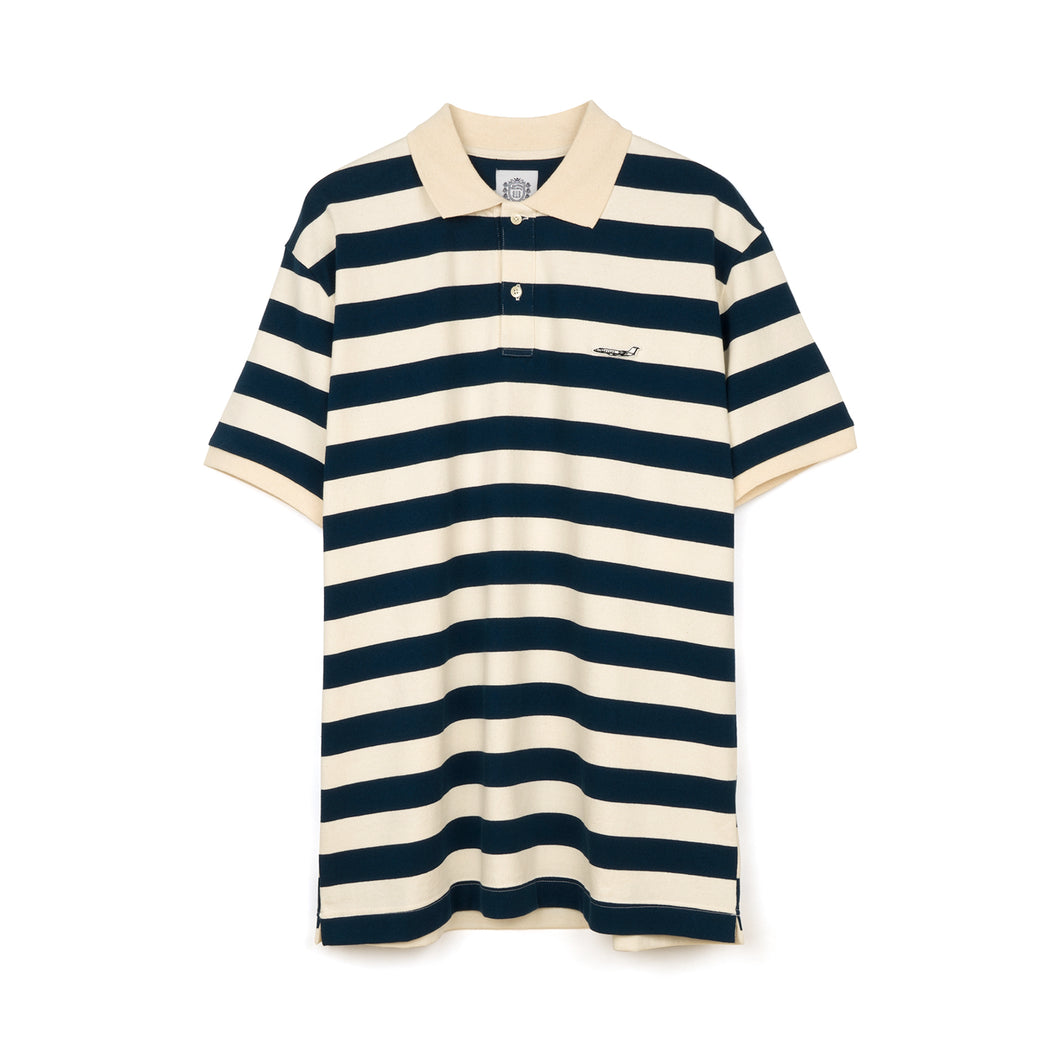 Billionaire Boys Club | Random Stripe Polo Blue - Concrete