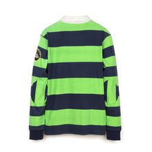 Load image into Gallery viewer, BBC Long Sleeve Stripe Polo Peacoat