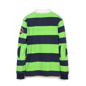 BBC Long Sleeve Stripe Polo Peacoat