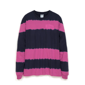Billionaire Boys Club | Bleached Striped L/S T-Shirt Blue - Concrete