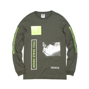 Billionaire Boys Club | Full Scale Crash L/S T-Shirt Olive - Concrete