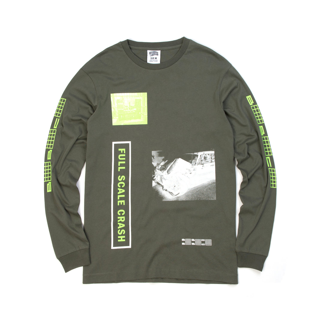 Billionaire Boys Club | Full Scale Crash L/S T-Shirt Olive