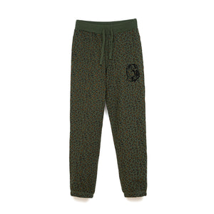 Billionaire Boys Club | Leopard Sweatpants Green - Concrete