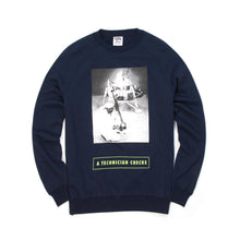 將圖像加載到畫廊查看器中Billionaire Boys Club | Technician Checks Crewneck Navy - Concrete
