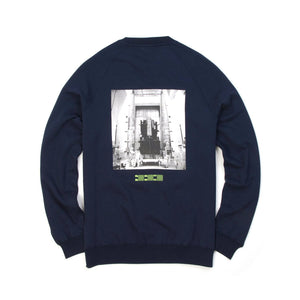 Billionaire Boys Club | Technician Checks Crewneck Navy - Concrete