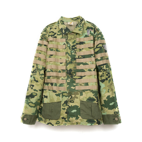 Billionaire Boys Club | Molle System Heavy Military Jacket Green - Concrete