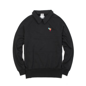 BBC Raygun Collared Crewneck Black