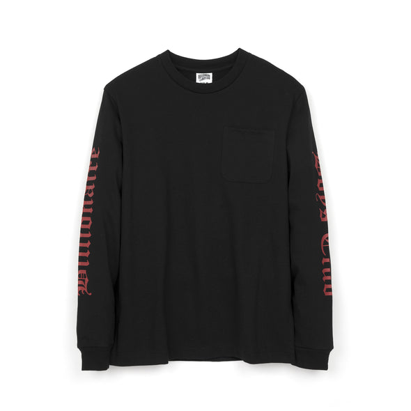 Billionaire Boys Club | College L/S Pocket T-Shirt Black - Concrete