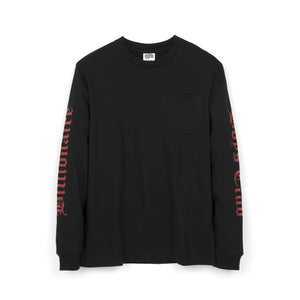 BBC College L/S Pocket T-Shirt Black
