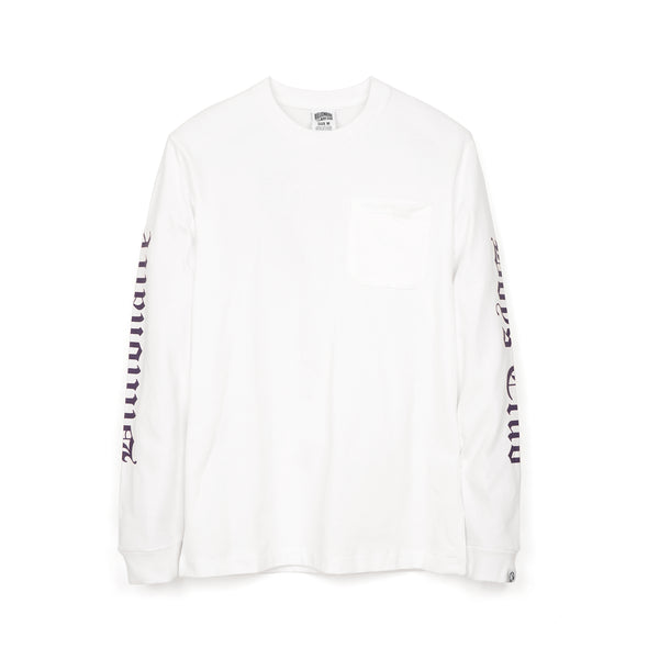 Billionaire Boys Club | College L/S Pocket T-Shirt White