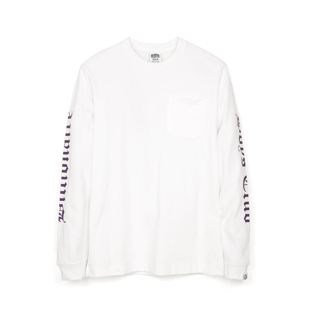 BBC College L/S Pocket T-Shirt White