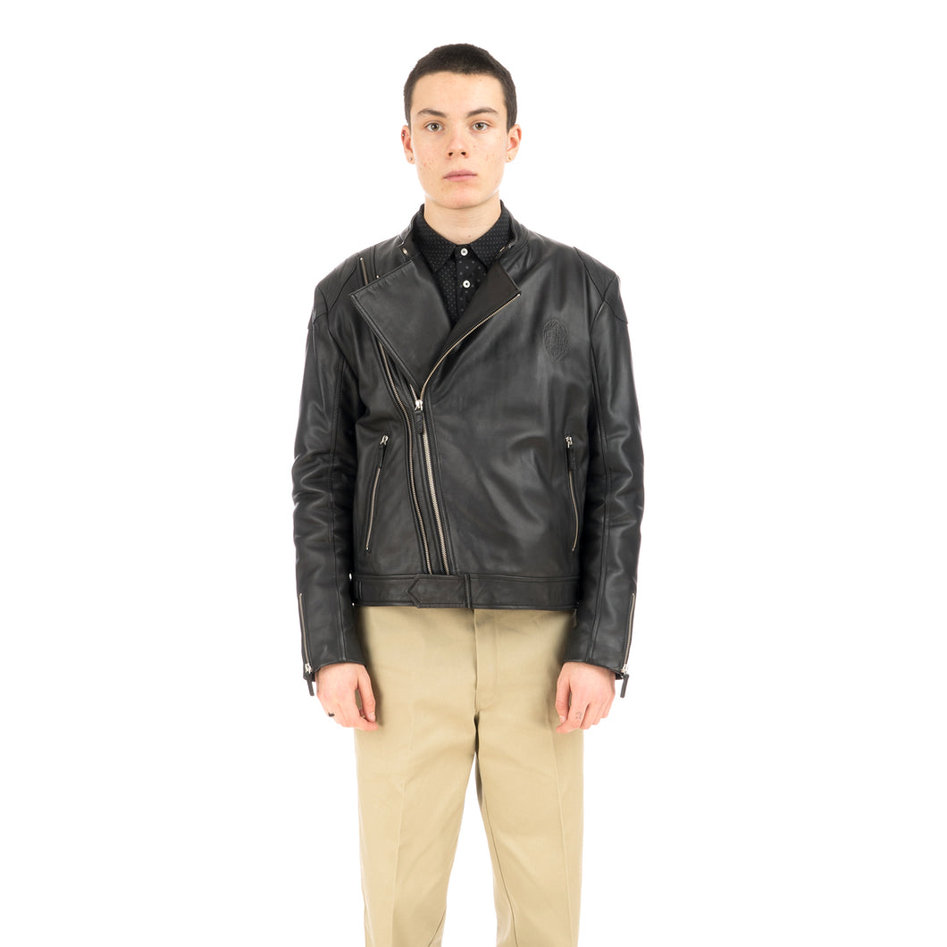 Billionaire Boys Club | Leather Wolfman Motorcycle Jacket Black
