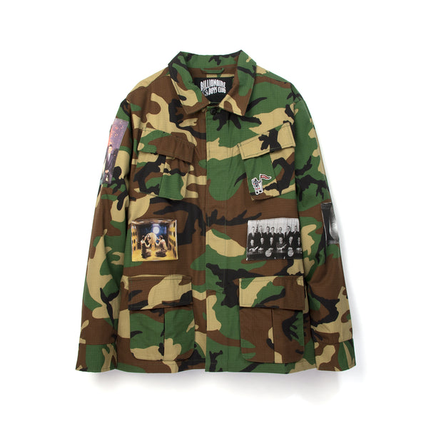 Billionaire Boys Club | Military Overshirt Camo - Concrete