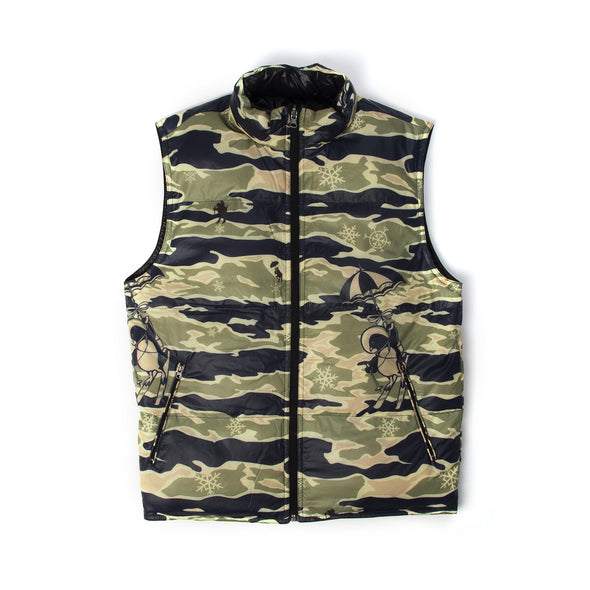 Billionaire Boys Club | Reversible Camo Gilet Black/Camo - Concrete