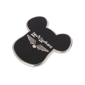 BE@RBRICK | x Lewis Leathers Pin Black