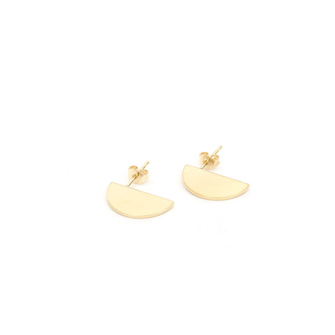 The Boyscouts Earring 'Crescent' (Pair) 18kt Gold Plated - Concrete