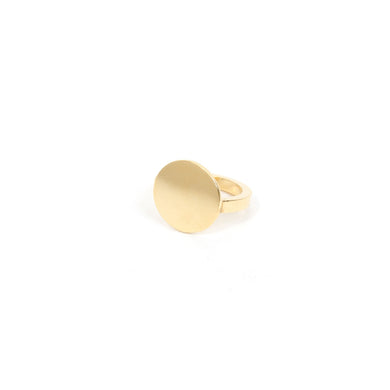 The Boyscouts Ring 'Memento' Round Gold 18kt - Concrete
