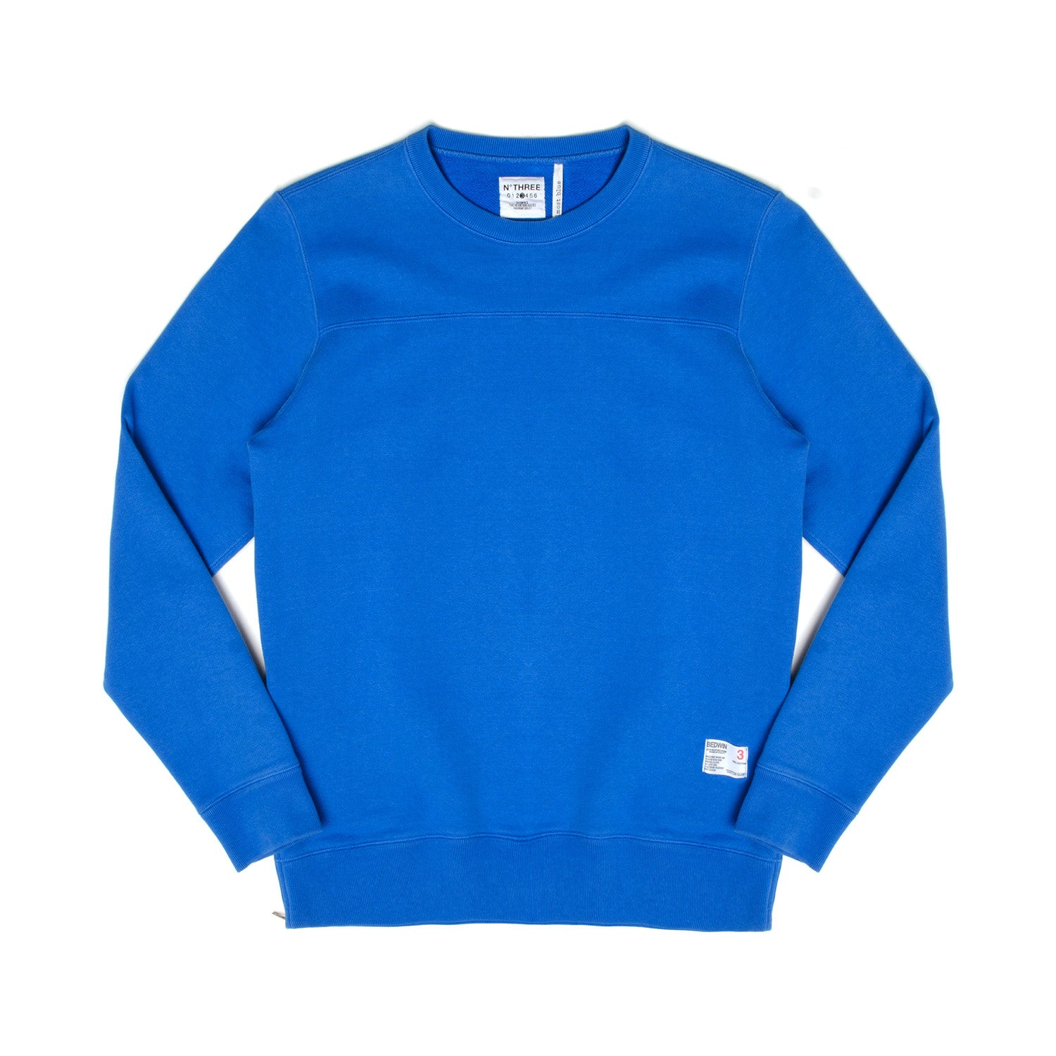 Bedwin 'Lou' Long Sleeve Crew-Neck OG Sweat Blue - Concrete