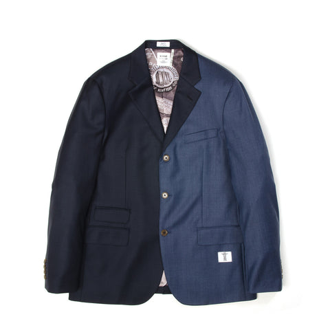 Bedwin 'Michael' 3B Wool Taylor Jacket Navy - Concrete