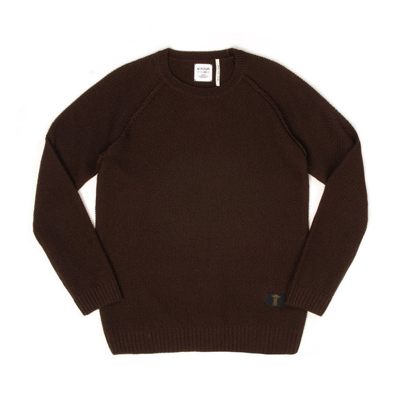 Bedwin 'Leigh' C-Neck Popcorn Sweater - Concrete
