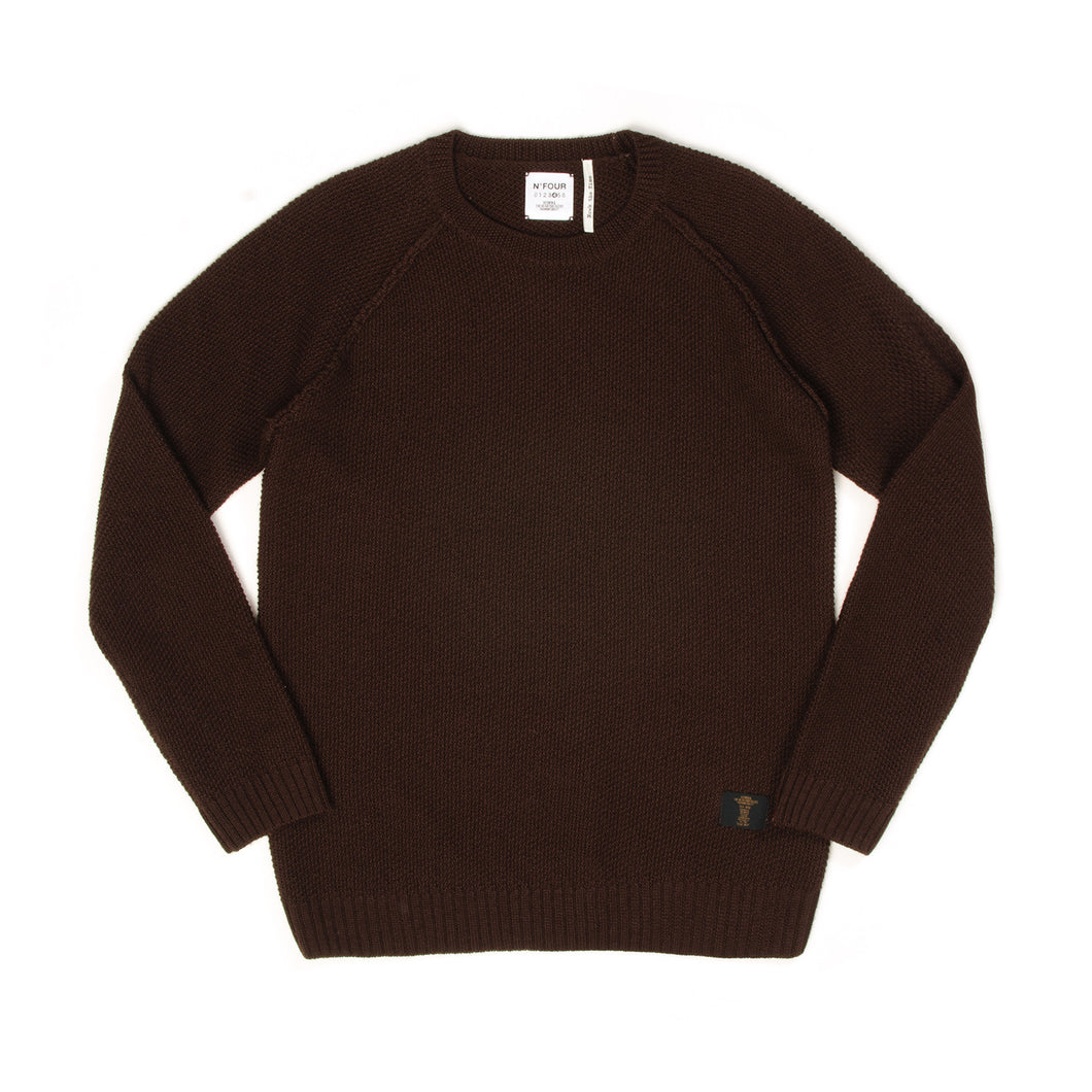 Bedwin & The Heartbreakers | 'Leigh' C-Neck Popcorn Sweater - Concrete