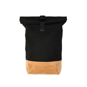 Bedwin & The Heartbreakers | 'Carl' Suede Roll Bag Beige/Black - Concrete
