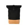 Bedwin 'Carl' Suede Roll Bag Beige/Black - Concrete