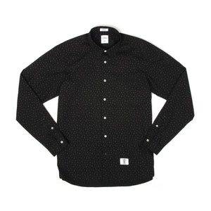 Bedwin & The Heartbreakers | 'Tailor' Longsleeve Dot Borad Shirt Black - Concrete