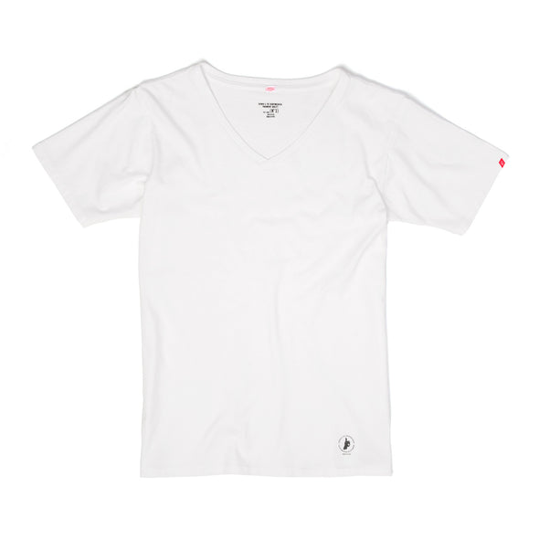 Bedwin & The Heartbreakers | 'Zientara' Short Sleeve V-Neck Tee White - Concrete