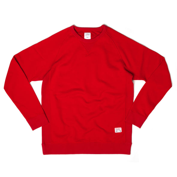 Bedwin 'Lou' C-Neck Sweat Red - Concrete