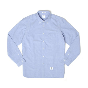 Bedwin & The Heartbreakers | 'Brian' Armhole Layered Oxford Shirt Sax - Concrete