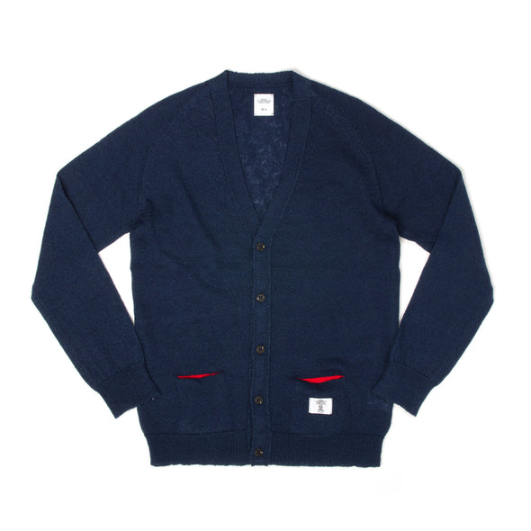 Bedwin & The Heartbreakers | 'Godard' Dralon Knit Cardigan Navy - Concrete