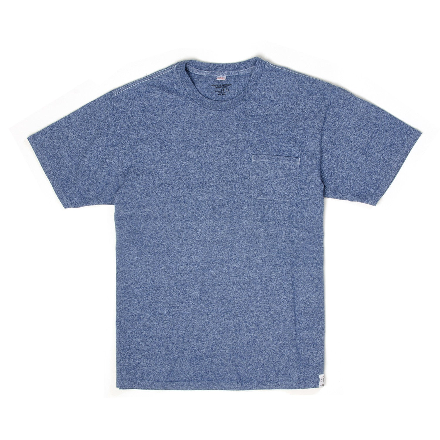 Bedwin 'Jack' Short Sleeve C-Neck Pocket Tee Blue - Concrete