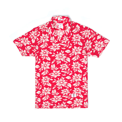 Bedwin 'Rogers' Short Sleeve Open Collar OG Aloha Shirt Red - Concrete