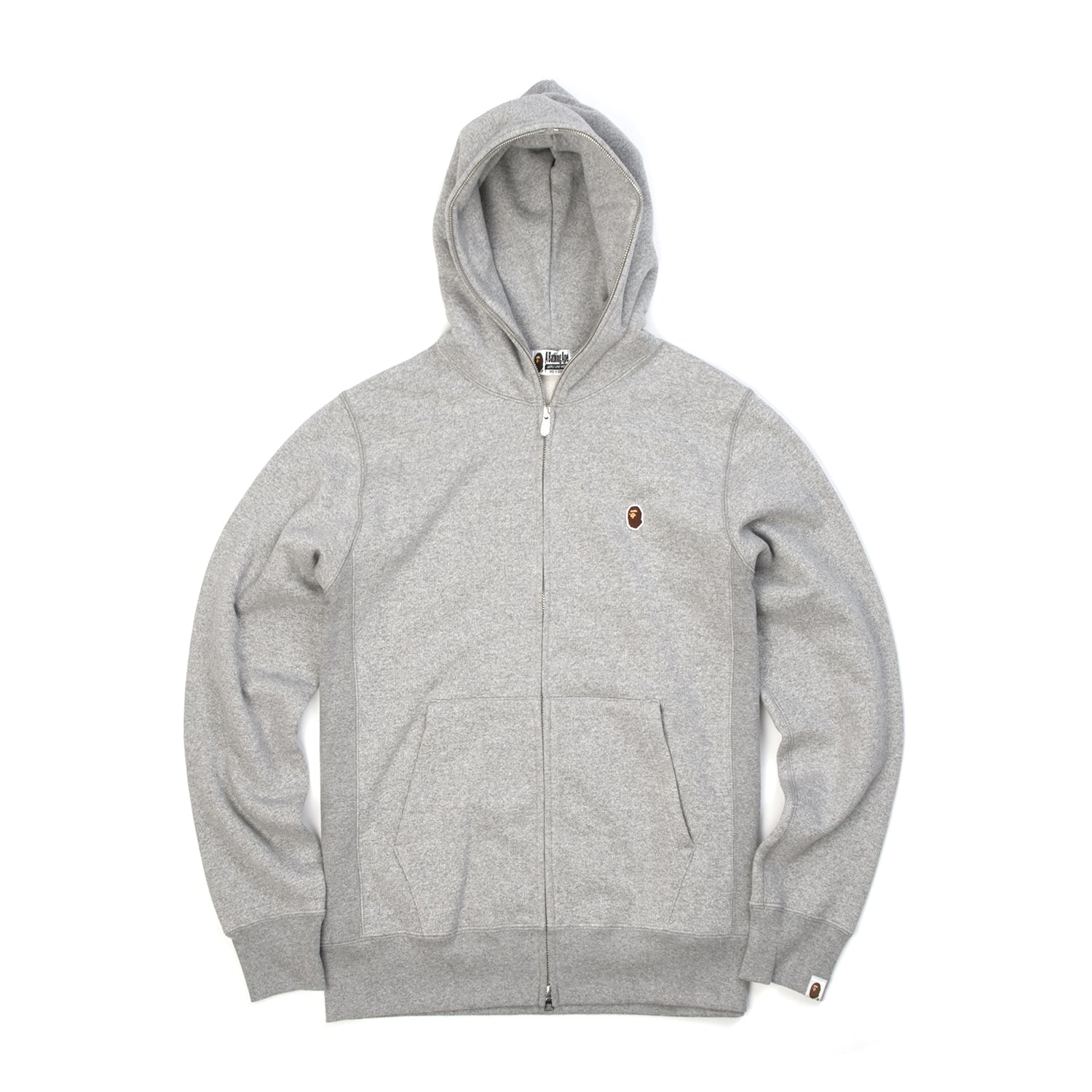 Bape Heavy Weight Full Zip Hoodie Grey