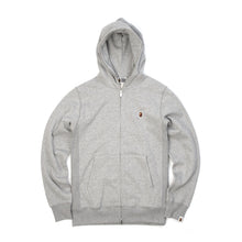 Load image into Gallery viewer, Bape Heavy Weight Full Zip Hoodie Grey - Concrete
