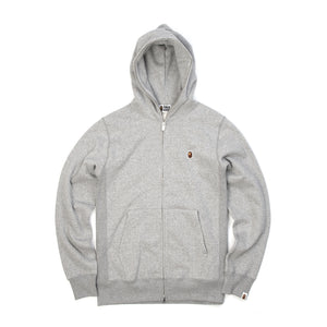 Bape Heavy Weight Full Zip Hoodie Grey - Concrete