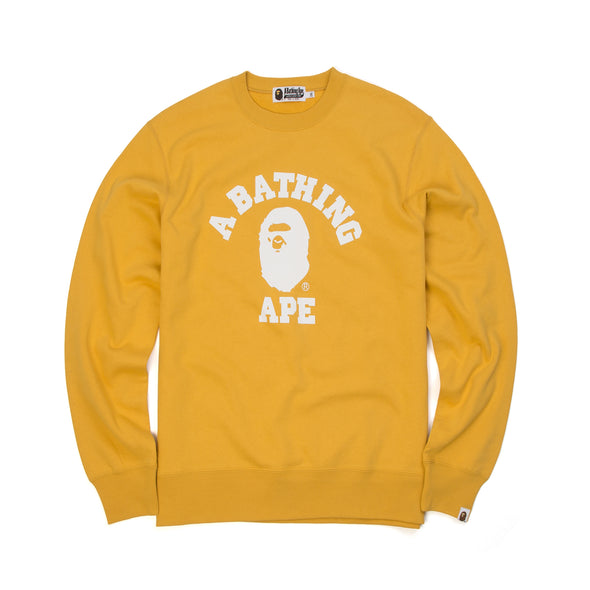 Bape College Crewneck Yellow - Concrete
