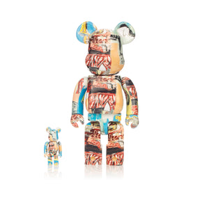 Medicom Toy | Be@rbrick 400% & 100% set Jean Michel Basquiat #6 - Concrete