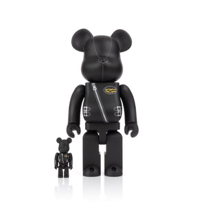 Be@rbrick 400% + 100% x Lewis Leathers Black