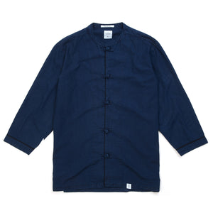 Bedwin & The Heartbreakers | 'Hirst' 8/S China Shirt Navy - Concrete