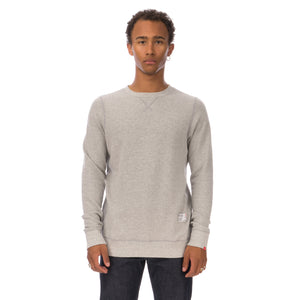 Bedwin & The Heartbreakers | L/S C-Neck Sweat 'Lou' Light Grey - Concrete