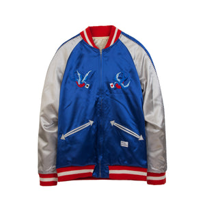 Bedwin & The Heartbreakers | 'McKnight' Reversible Souvenir Jacket Blue - Concrete
