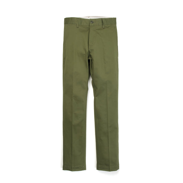 Bedwin & The Heartbreakers | 'Joe' 10/L Chino Stretch Pants Olive - Concrete