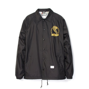 Bedwin & The Heartbreakers | 'Jill' L/S Coach Jacket Black - Concrete