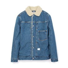 Load image into Gallery viewer, Bedwin 'Goodman' L/S Denim Boa Jacket FD Indigo