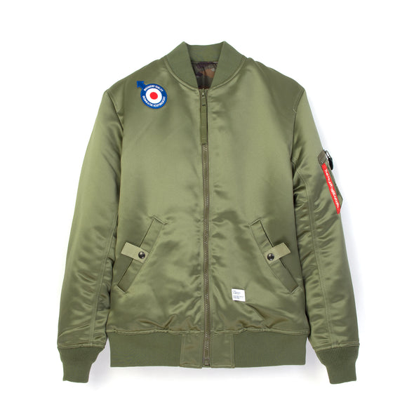 Bedwin & The Heartbreakers | 'Duffy' MA-1 Reversible Jacket Olive